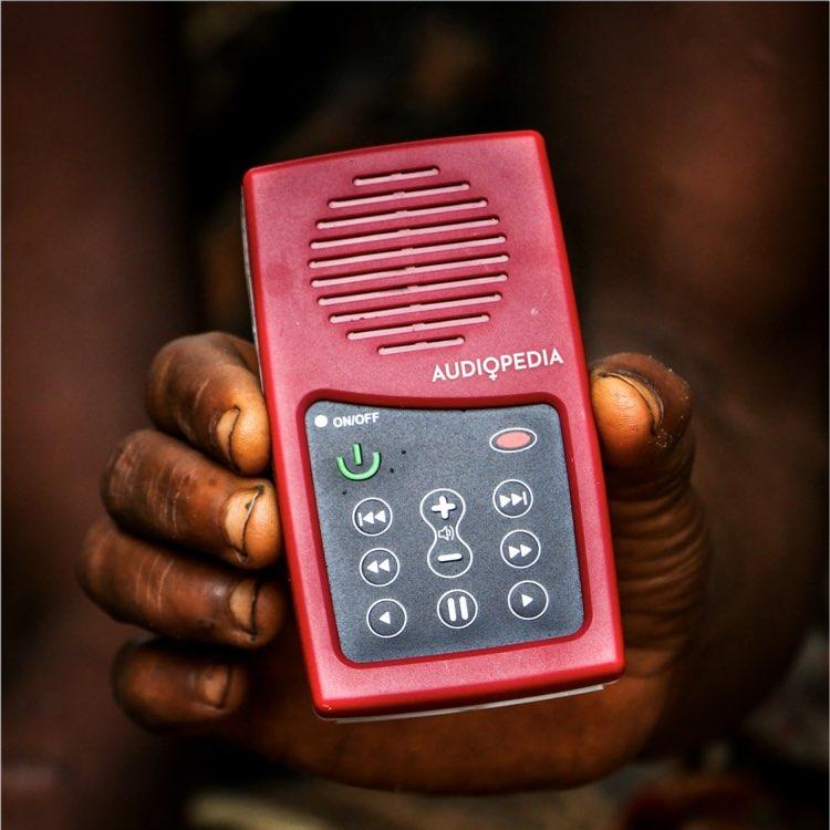 Solar-powered Audiopedia Player