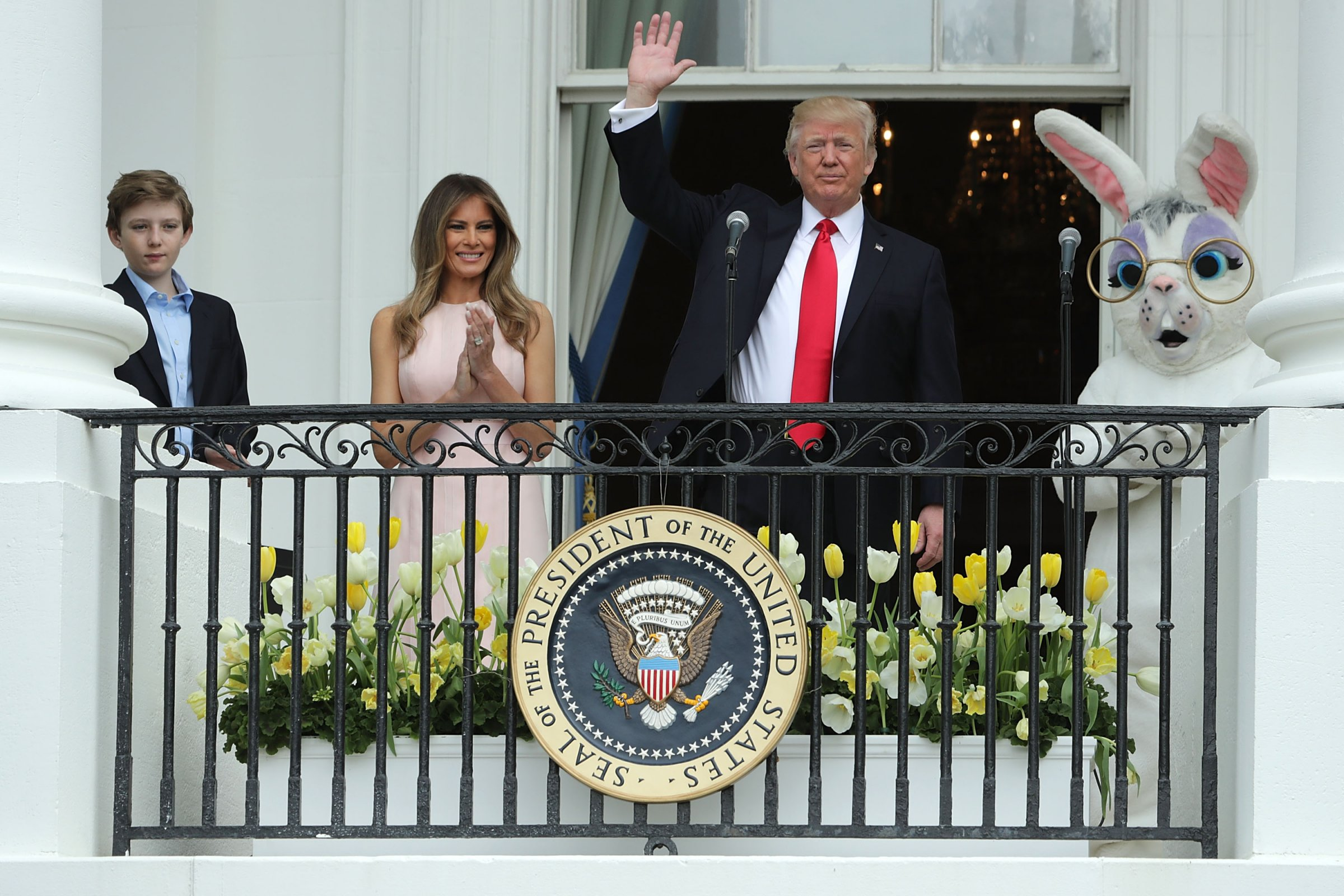 Trump family kicks off Easter egg roll