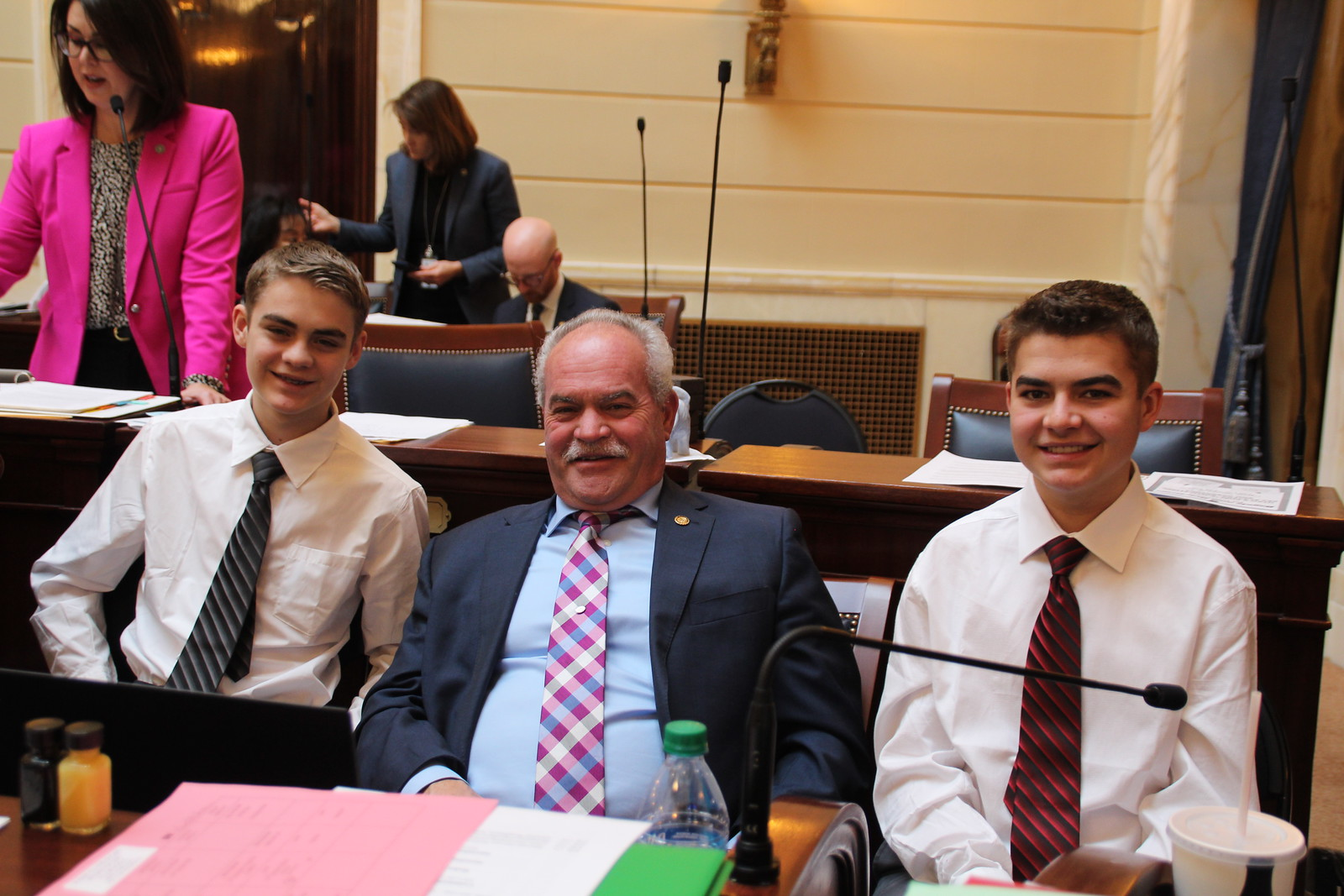 Senator Winterton with grandsons