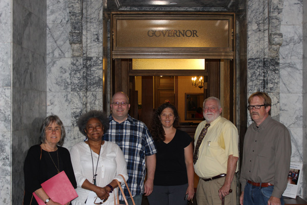 Image: petition delivered to Governor Inslee