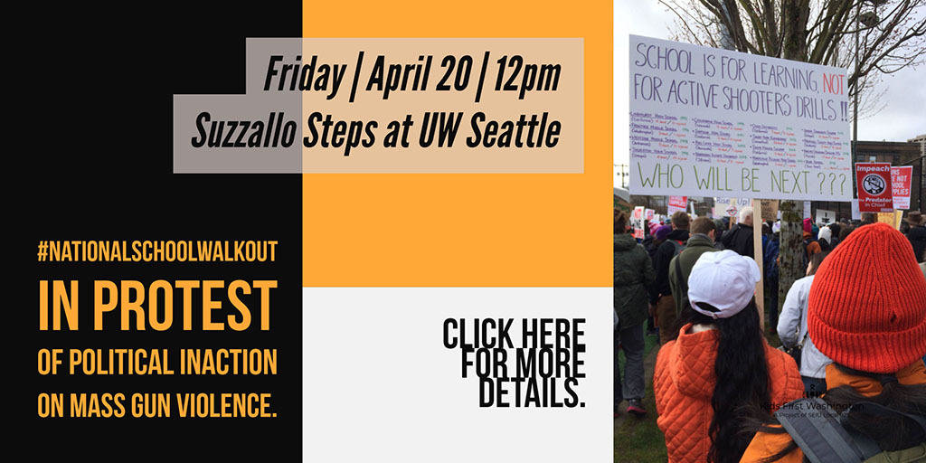 Friday April 20 12pm | Suzzallo Steps at UW Seattle