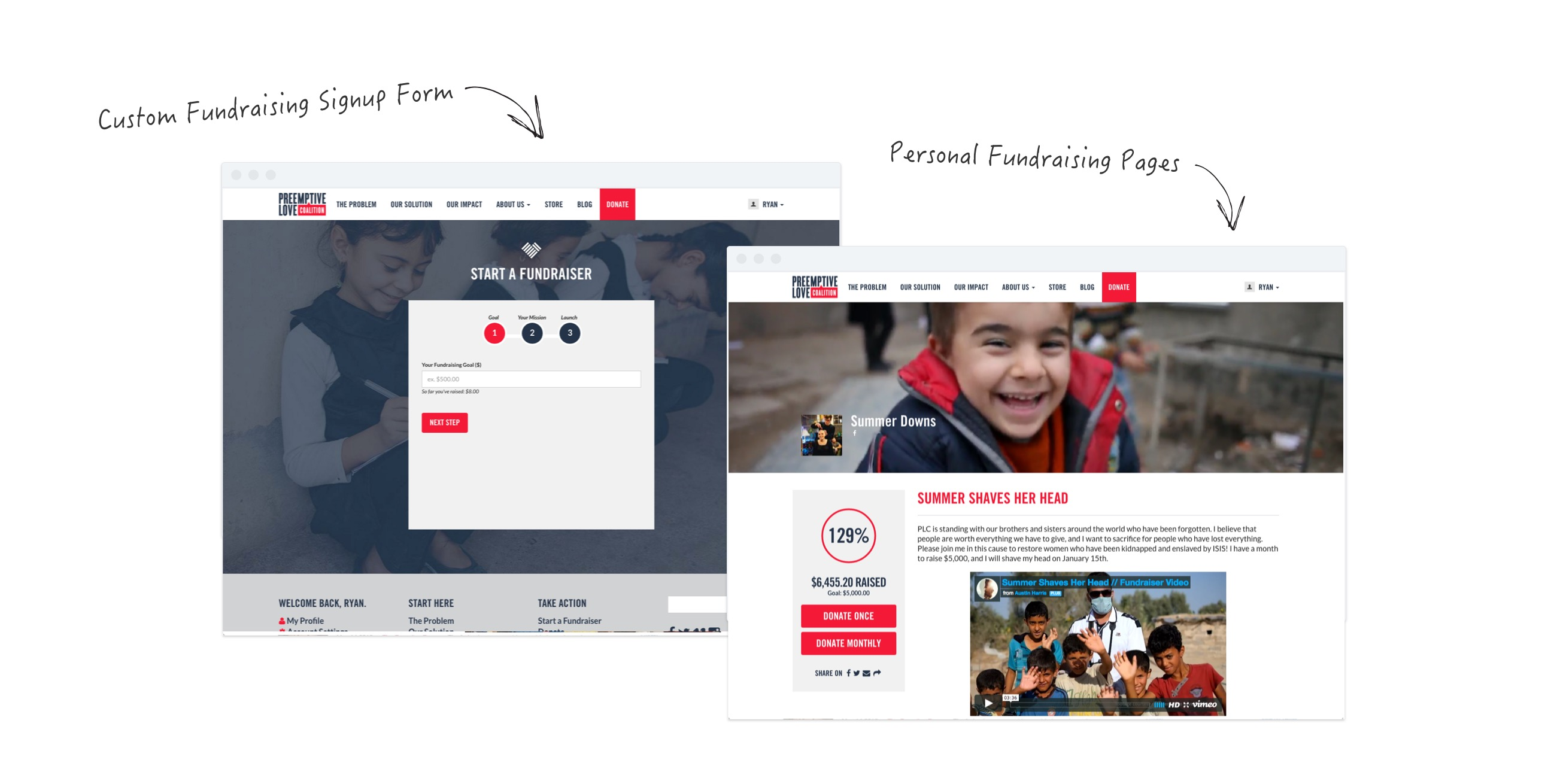 NationBuilder personal fundraising pages