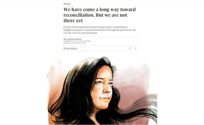 Jody Wilson-Raybould Globe and Mail Opinion