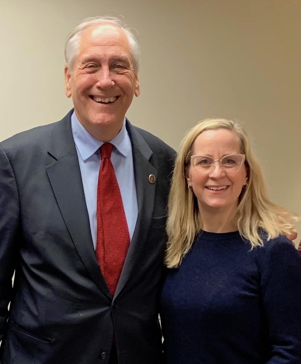 Senator Marsden and Tamara Netzel