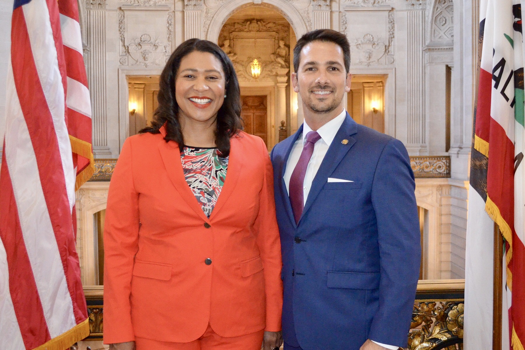 After getting sworn in by Mayor London Breed