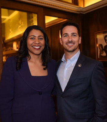 Victor Olivieri with Board President London Breed