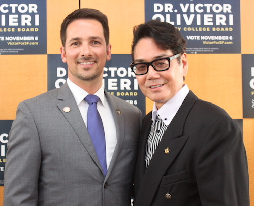 Dr. Victor Olivieri with Trustee Lawrence Wong