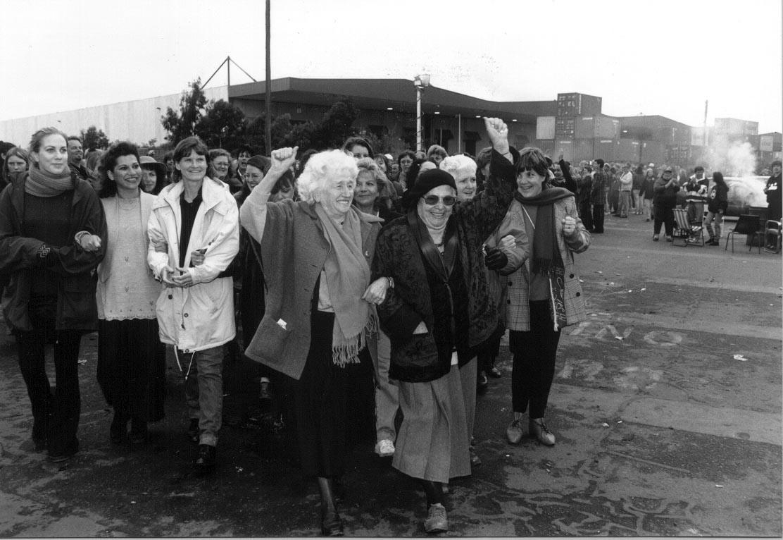 Women at the Patricks picket