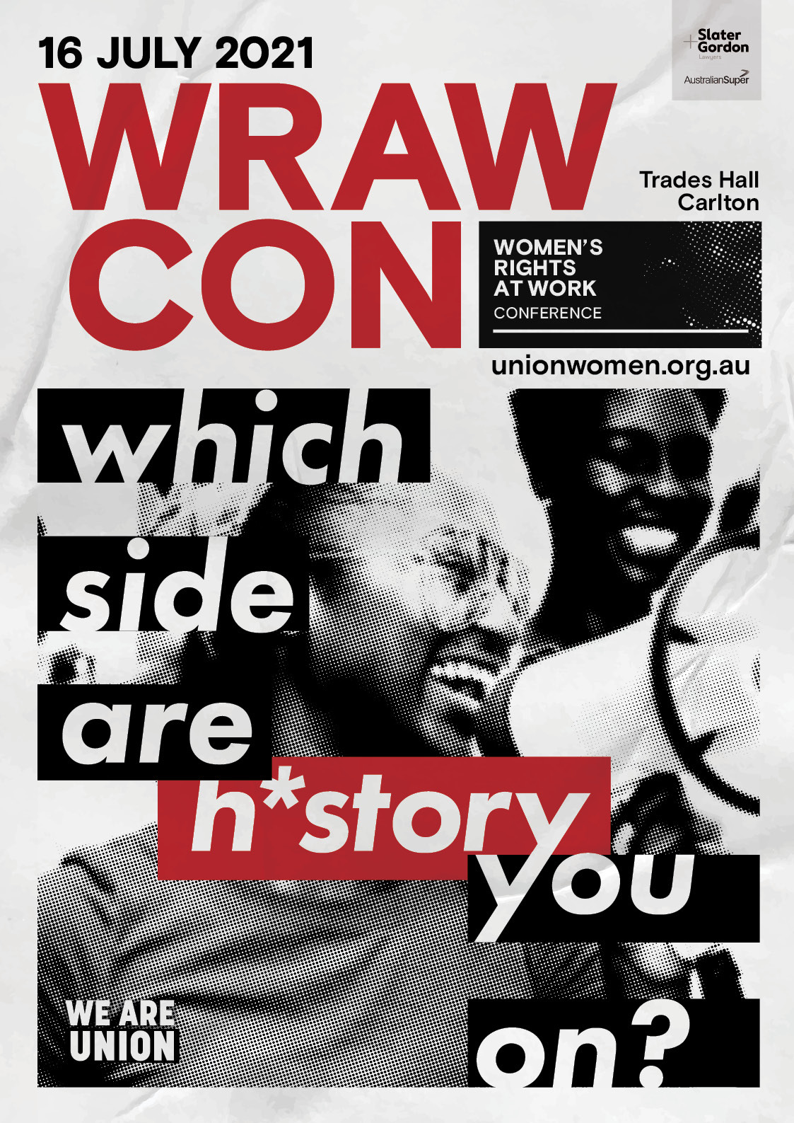 WRAW con poster