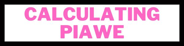 Calculating PIAWE
