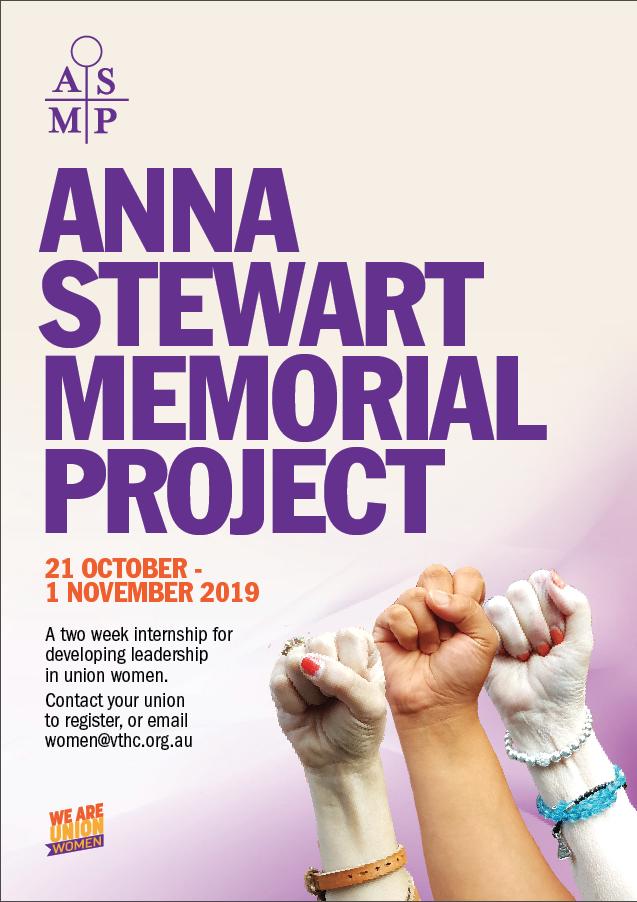 Anna Stewart Program poster