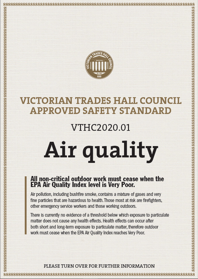 VTHC air quality standard