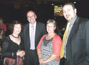 Marg Howard, with Gayle Burmeister (NUW OHS Coordinator) and Greg Tweedly (Chief Executive, WorkSafe Victoria)
