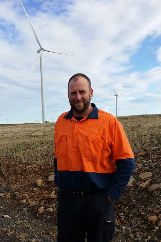 Mark Wiggins, Operations Manager at Boco Rock Wind Farm