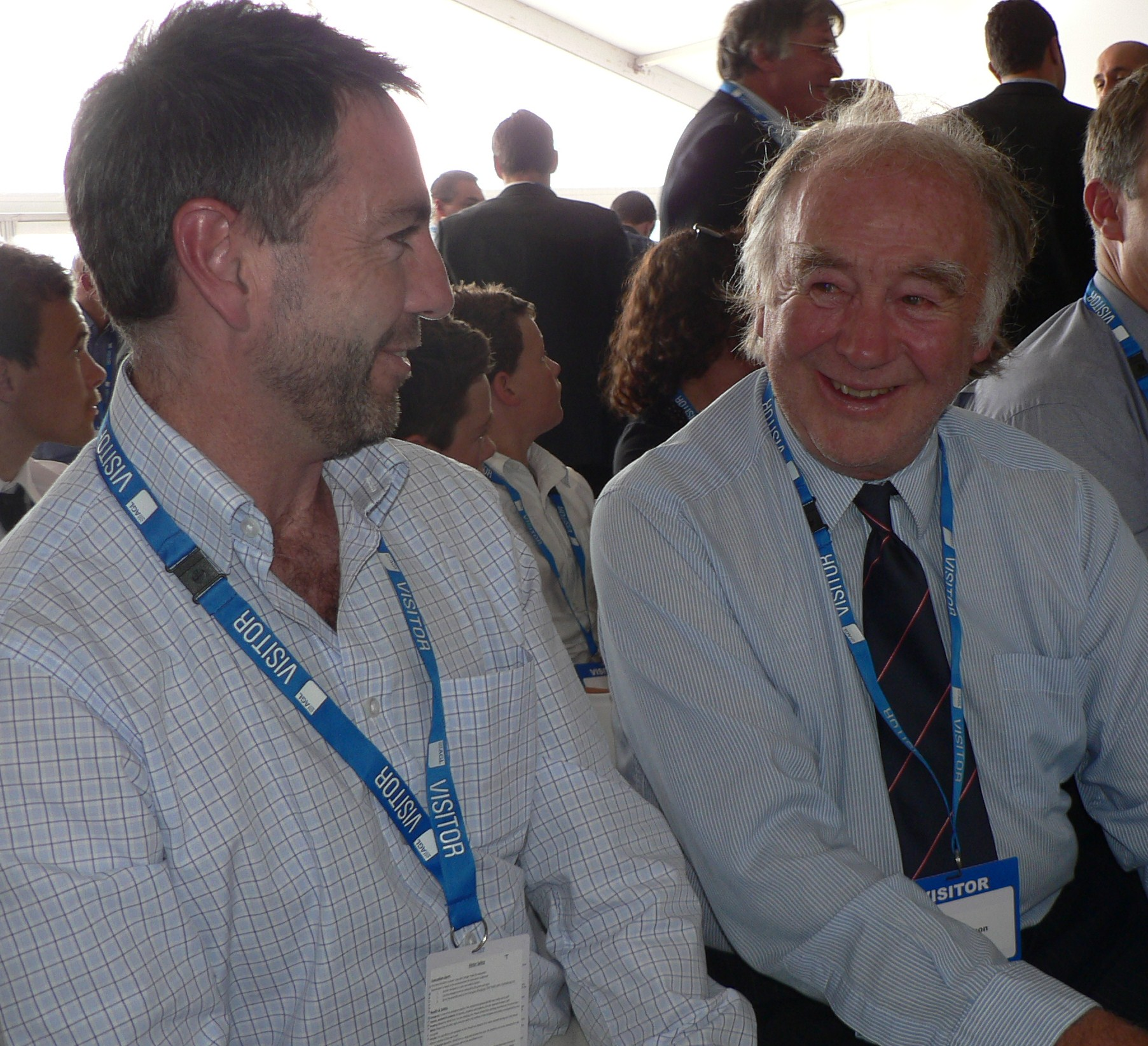 Andrew Bray and Macarthur wind farmer, Tom Robertson