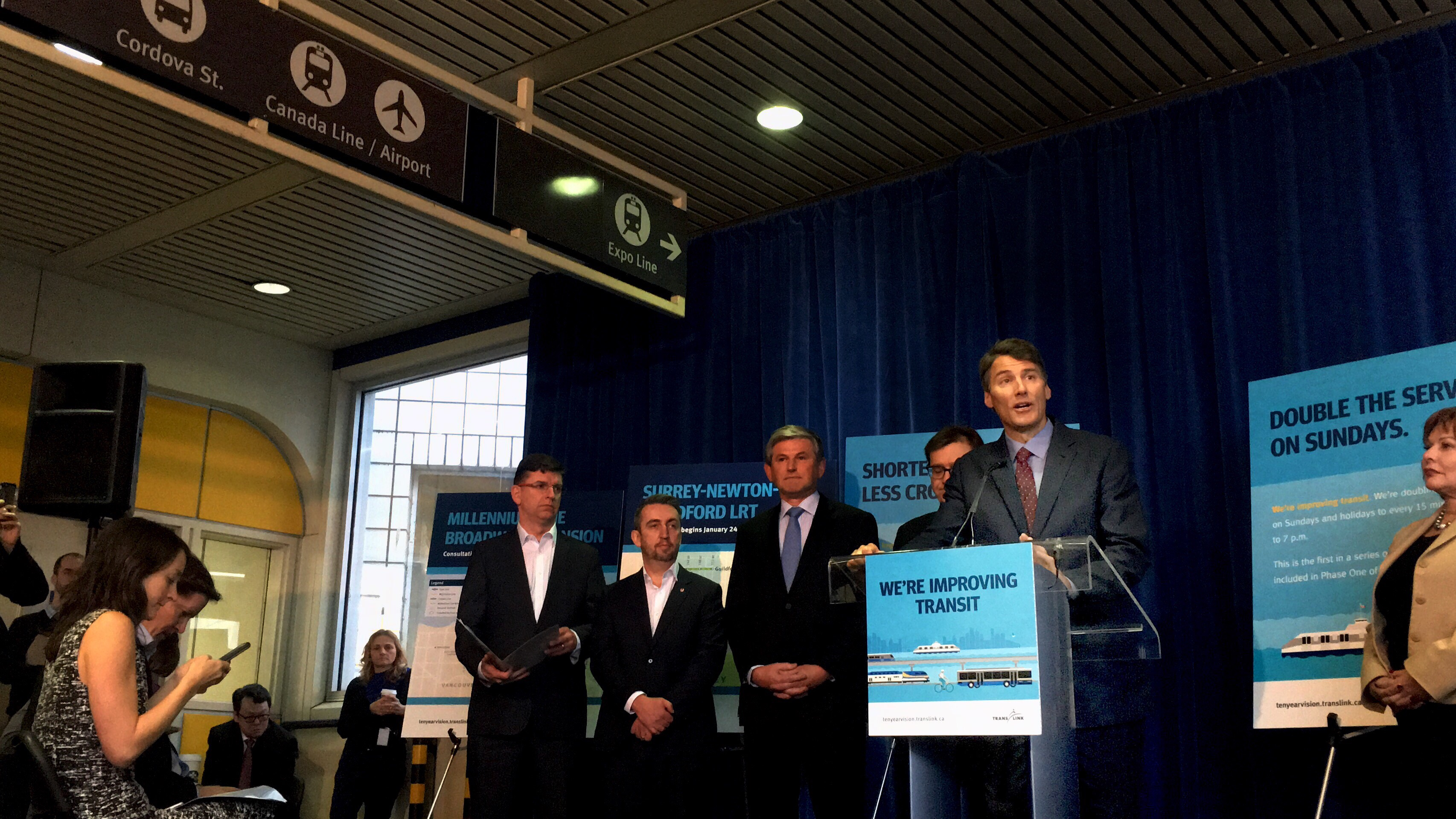 Mayor Gregor Robertson announces biggest transit expansion in Vancouver in almost a decade