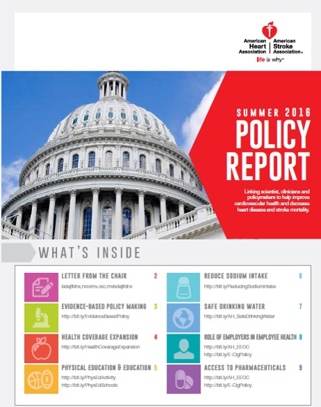 Announcing the NEW 2016 Spring Policy Report!