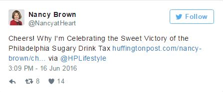 Tweet of the Week: Cheers to Philly's Sugary Drinks Tax!