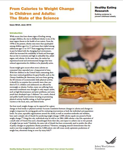 From Calories to Weight Change in Children and Adults: The State of the Science