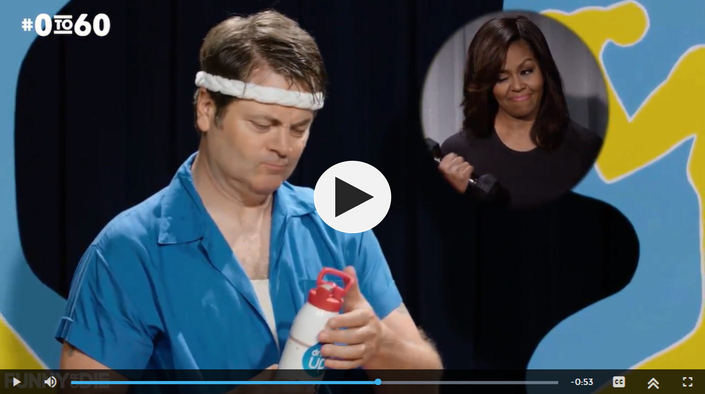First Lady Michelle Obama and Nick Offerman Go from #0to60 to Accelerate America's Journey to Living Healthy