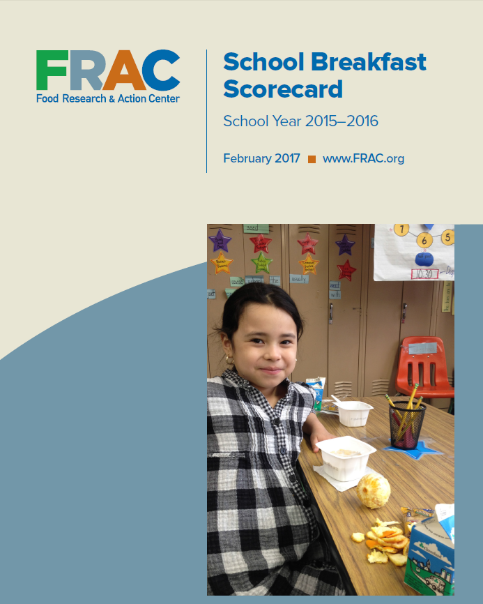 New Resource: FRAC Released Annual School Breakfast Scorecard