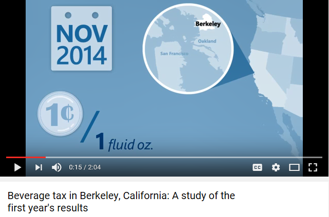 New Video: Beverage tax in Berkeley, California: A study of the first year's results