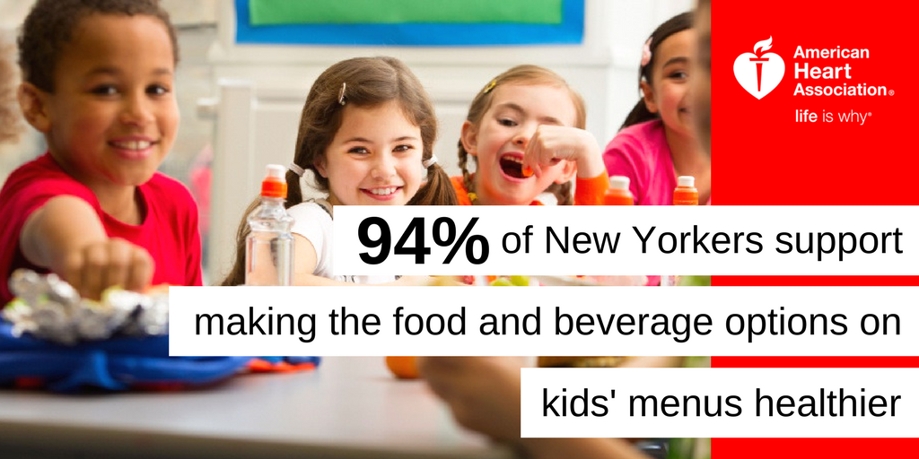 New Yorkers Want Healthier Choices on Kids' Menus