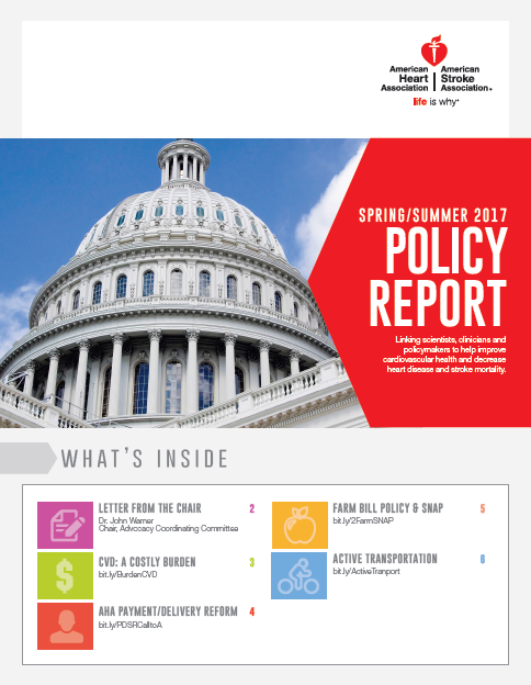 AHA Releases Spring/Summer 2017 Policy Report