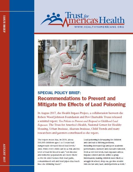 Lead Poisoning Policy Brief is Released