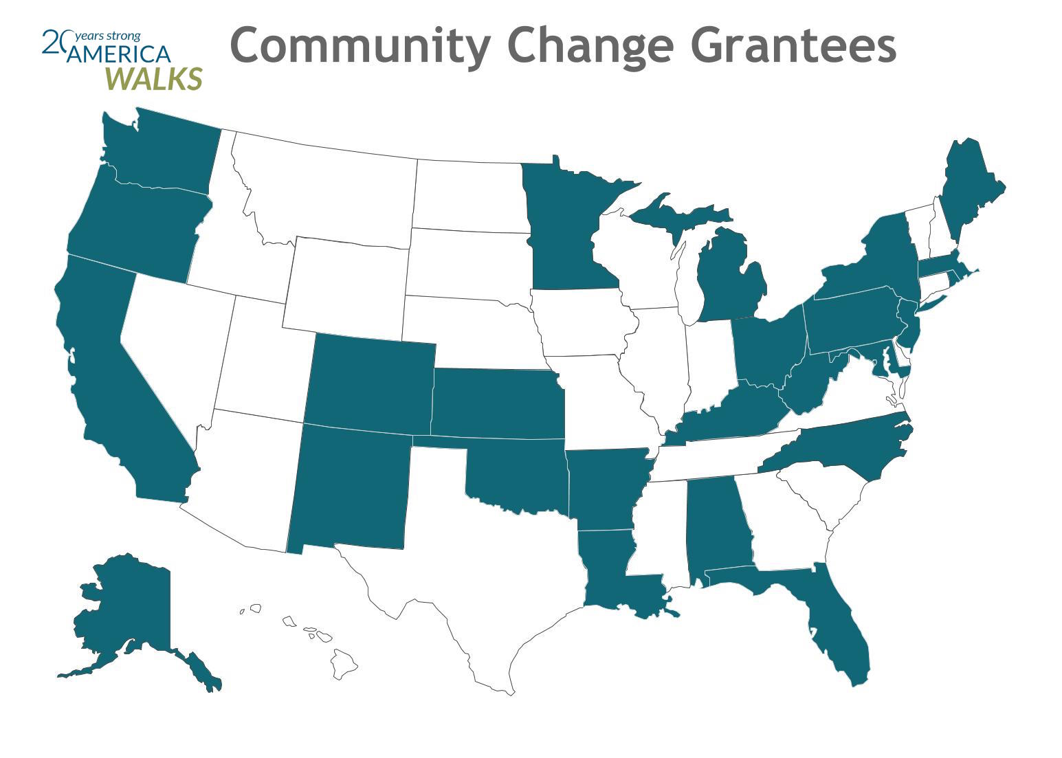 America Walks and Partners Empower 27 Communities with Grants