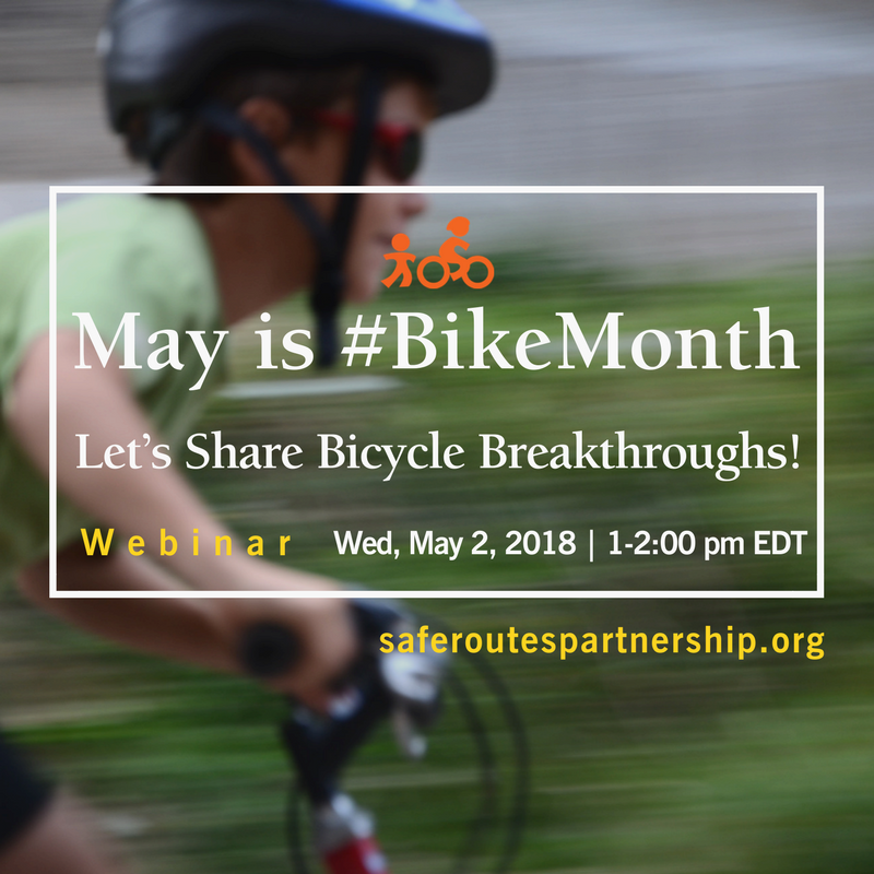New Webinar: It's Bike Month: Let's Share Bicycle Breakthroughs