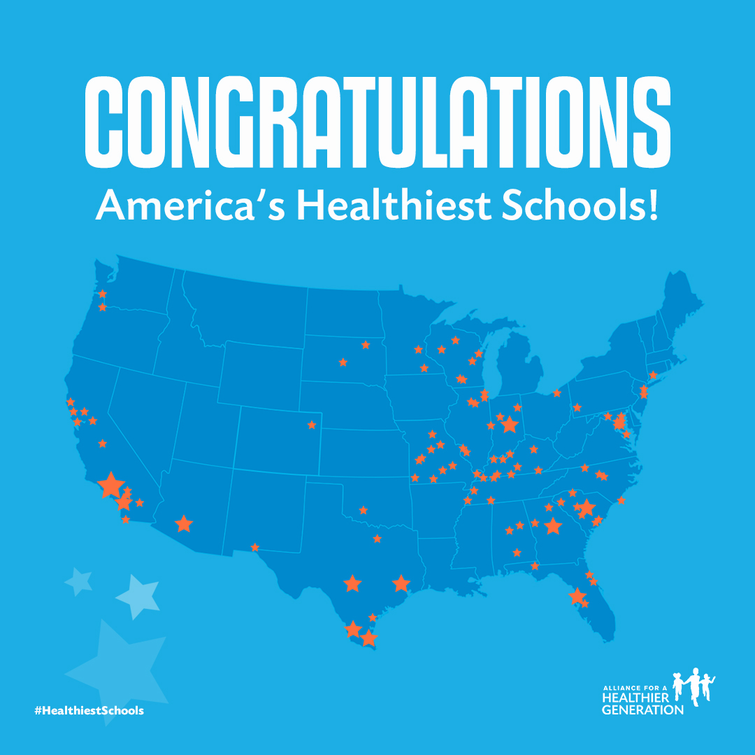 Alliance for a Healthier Generation has Announced the 2018 list of America's Healthiest Schools