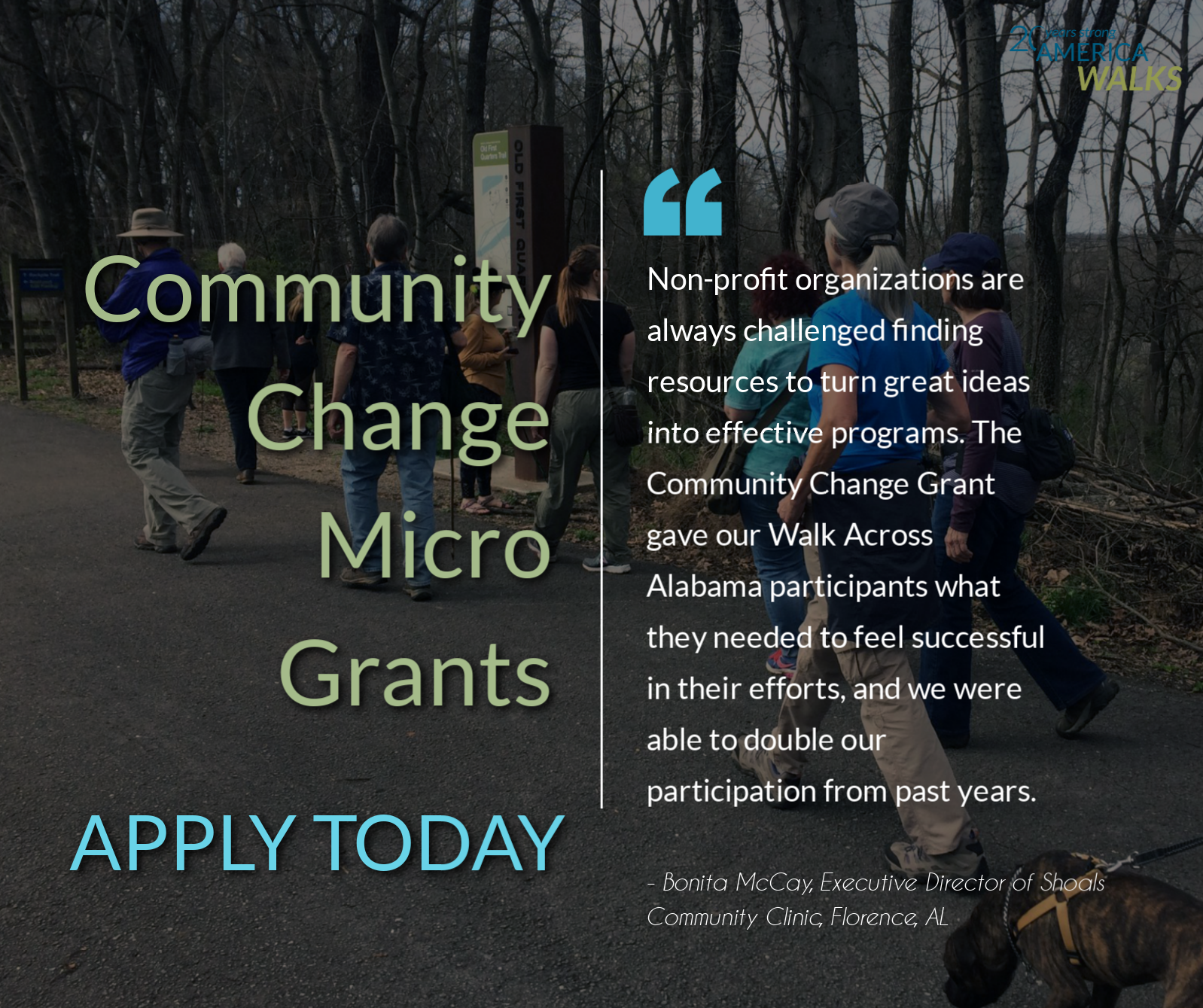 America Walks Announces Another Round of the Community Change Grant Program