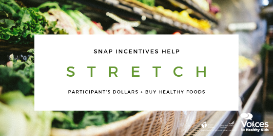 New SNAP Incentive Resources Now Available from Voices for Healthy Kids