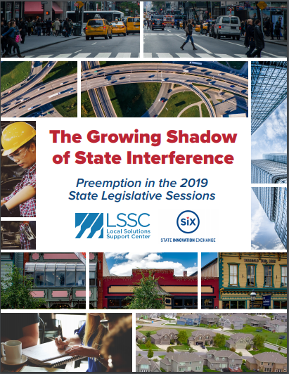 New Report: The Growing Shadow State Interference: Preemption in the 2019 State Legislative Sessions