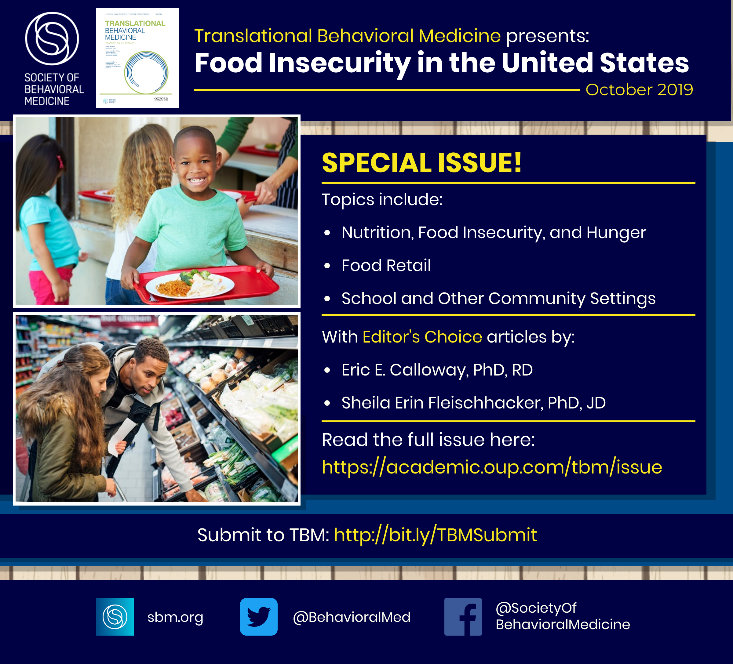 Special Journal Issue on Food Insecurity in the United States