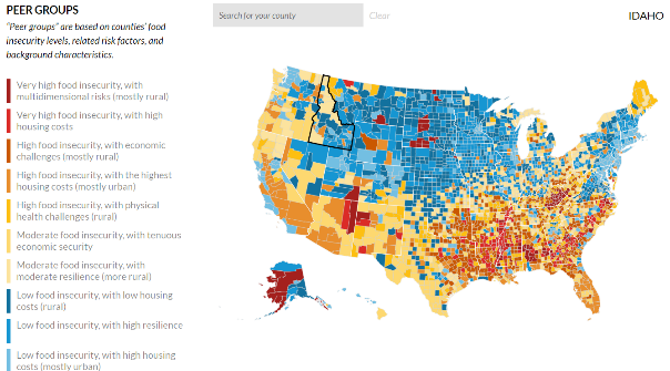 New Disrupting Food Insecurity Dashboard from Urban Institute