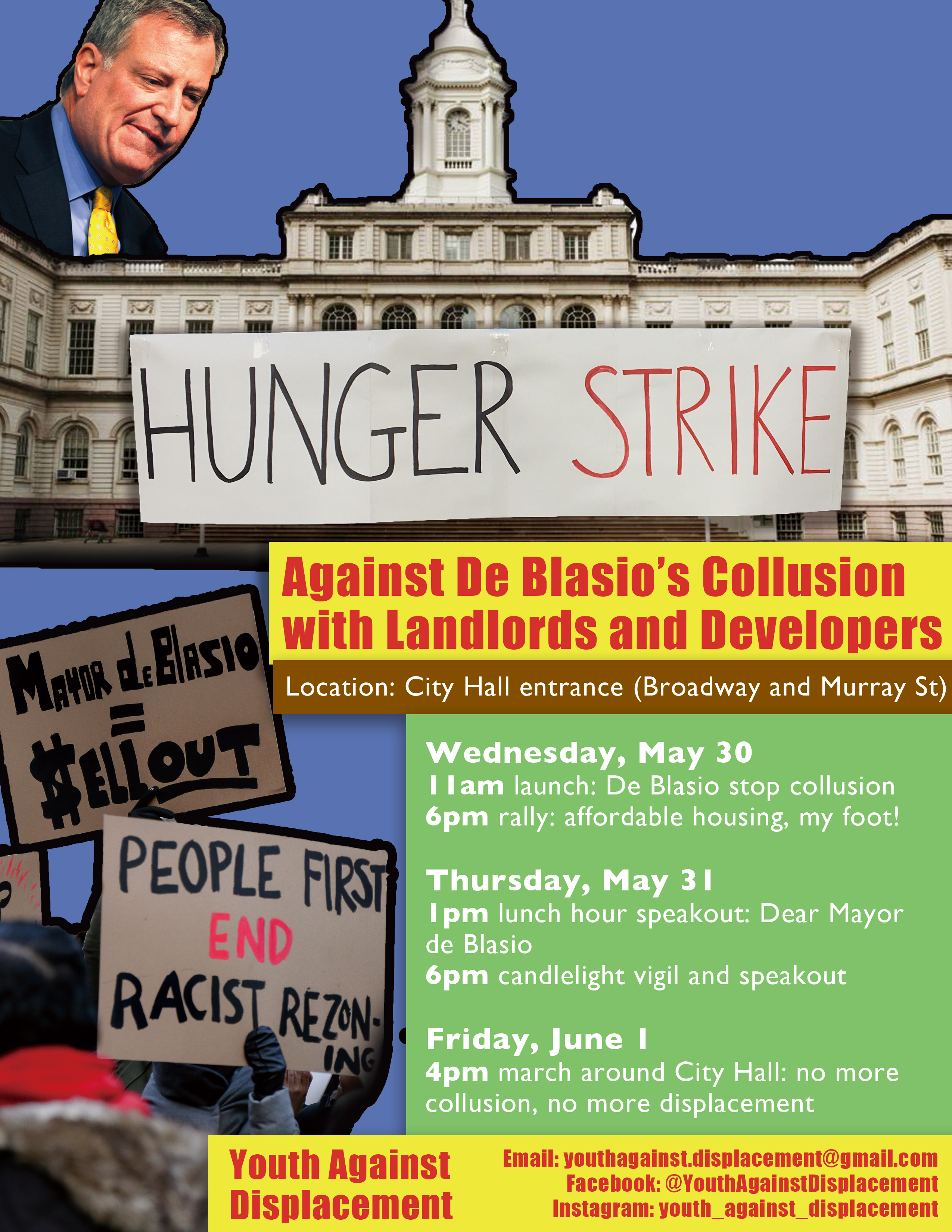 Hunger Strike at City Hall