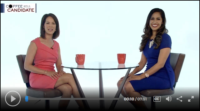 Coffee with a Candidate: Republican candidate for governor Andria Tupola