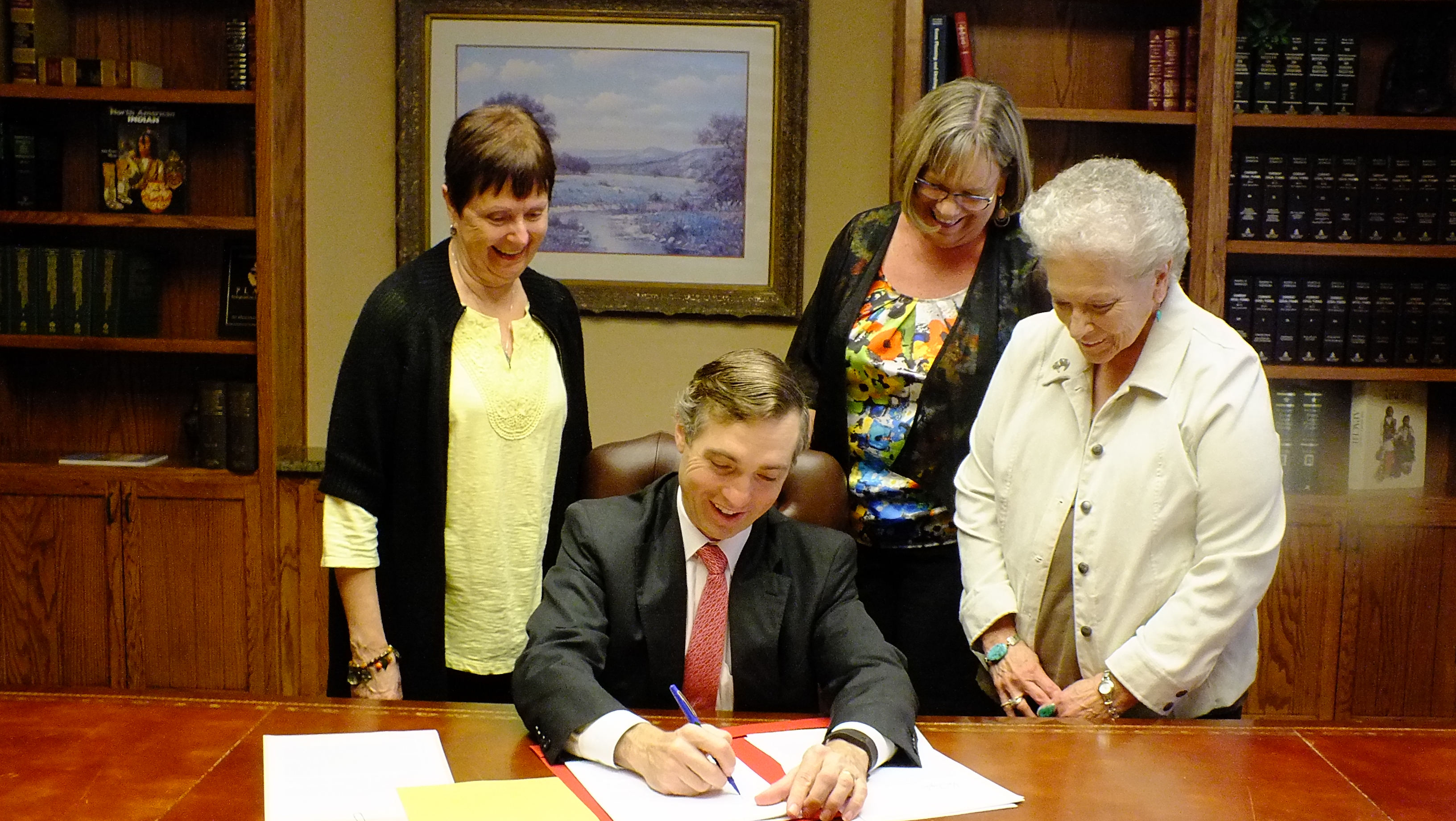 Senator Van Taylor Signs Deficit Solutions ACt