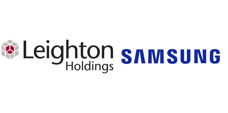 Leighton Samsung logos