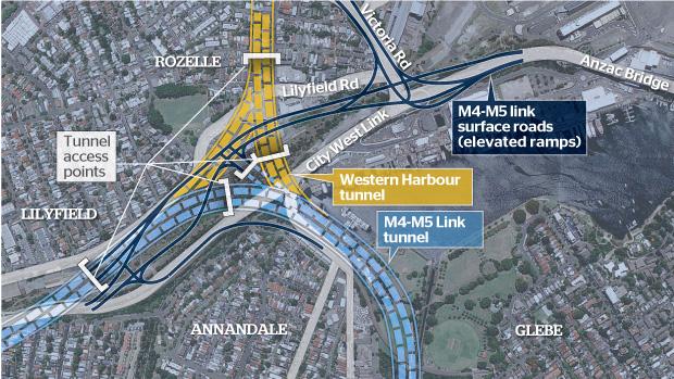 WestCONnex Rozelle interchange