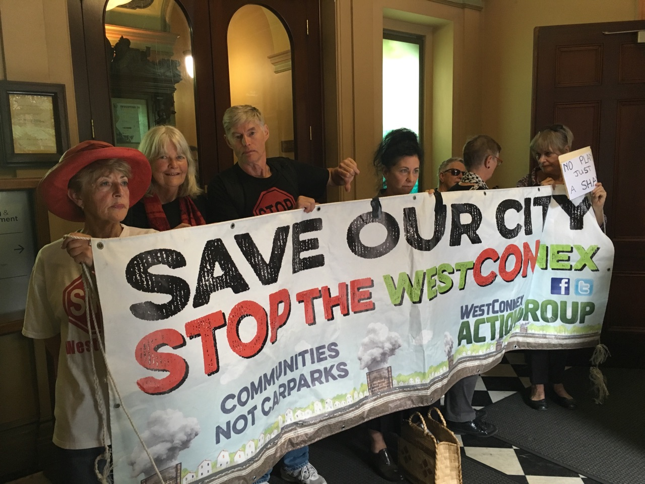 Residents occupy the NSW Planning Dept to call for a public inquiry into WestCONnex