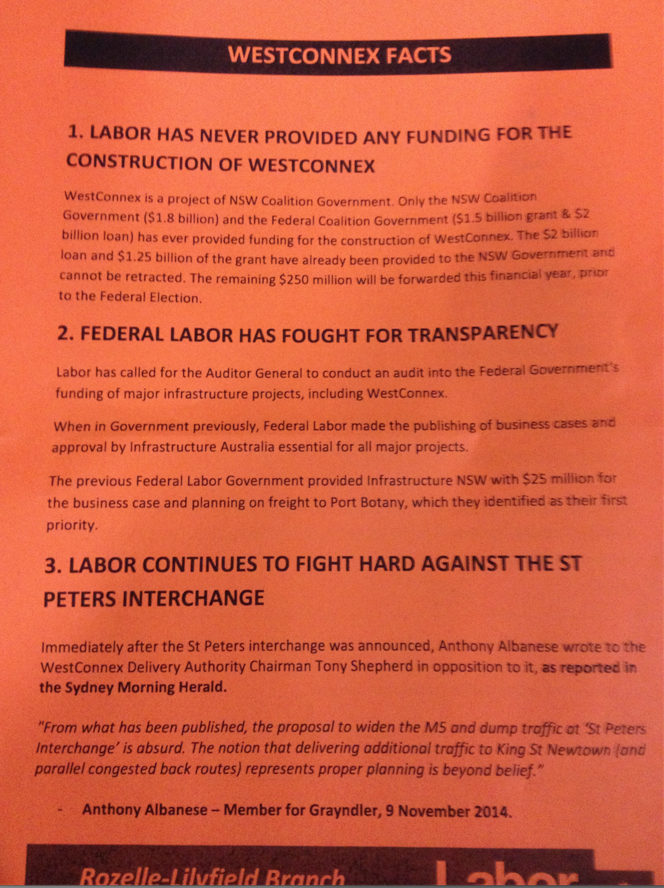 Labor flyer, 19 May 2016