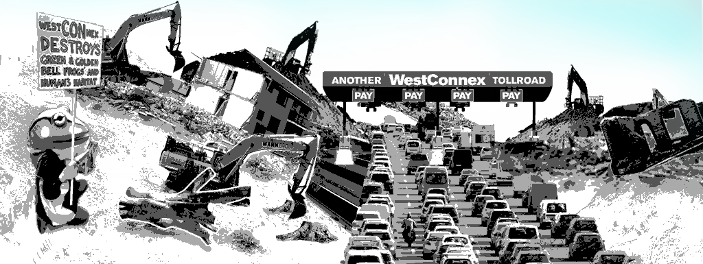 WestCONnex destruction image