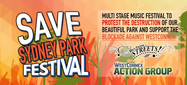 Save Sydney Park Festival banner