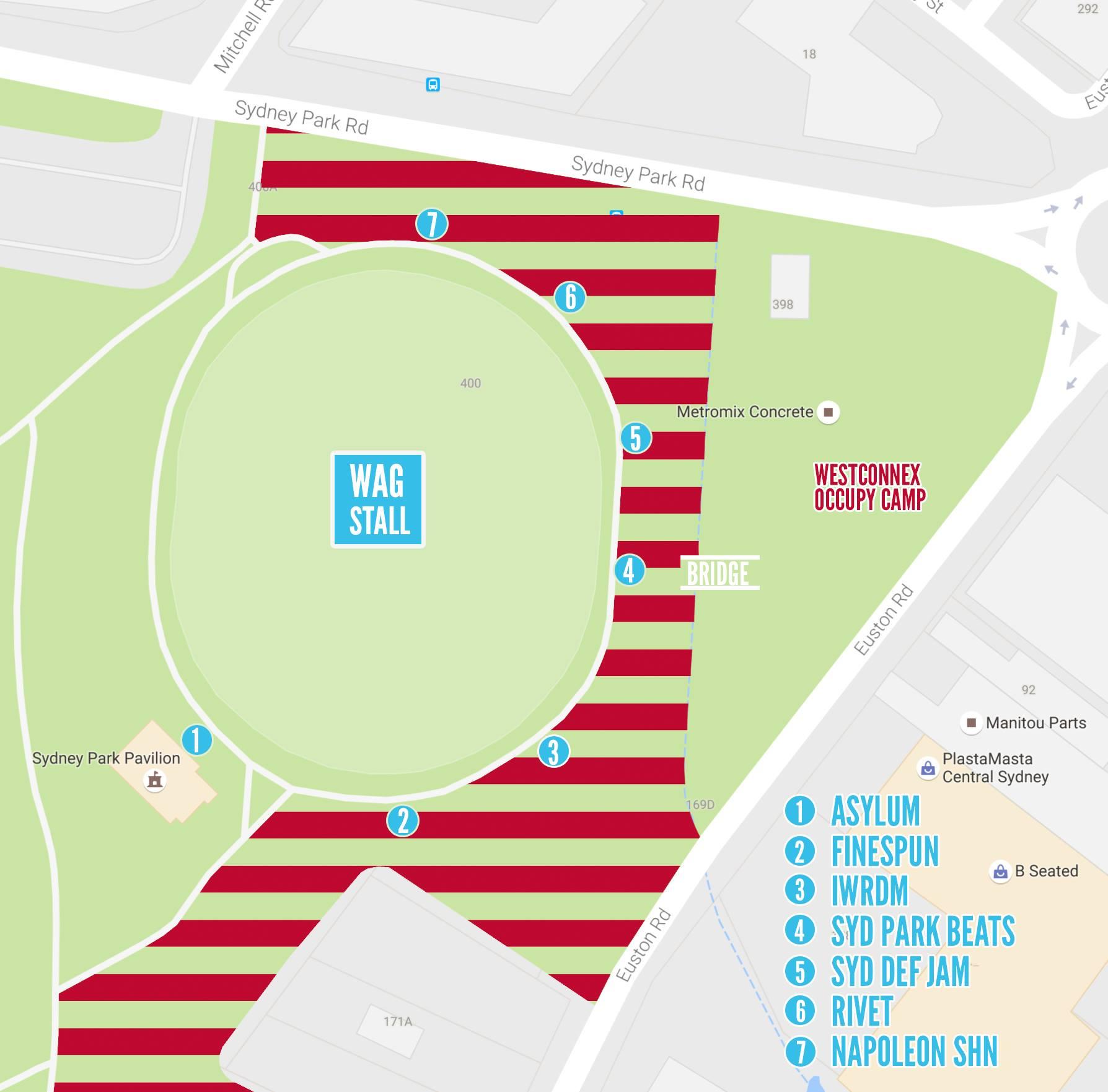 Save Sydney Park Festival map