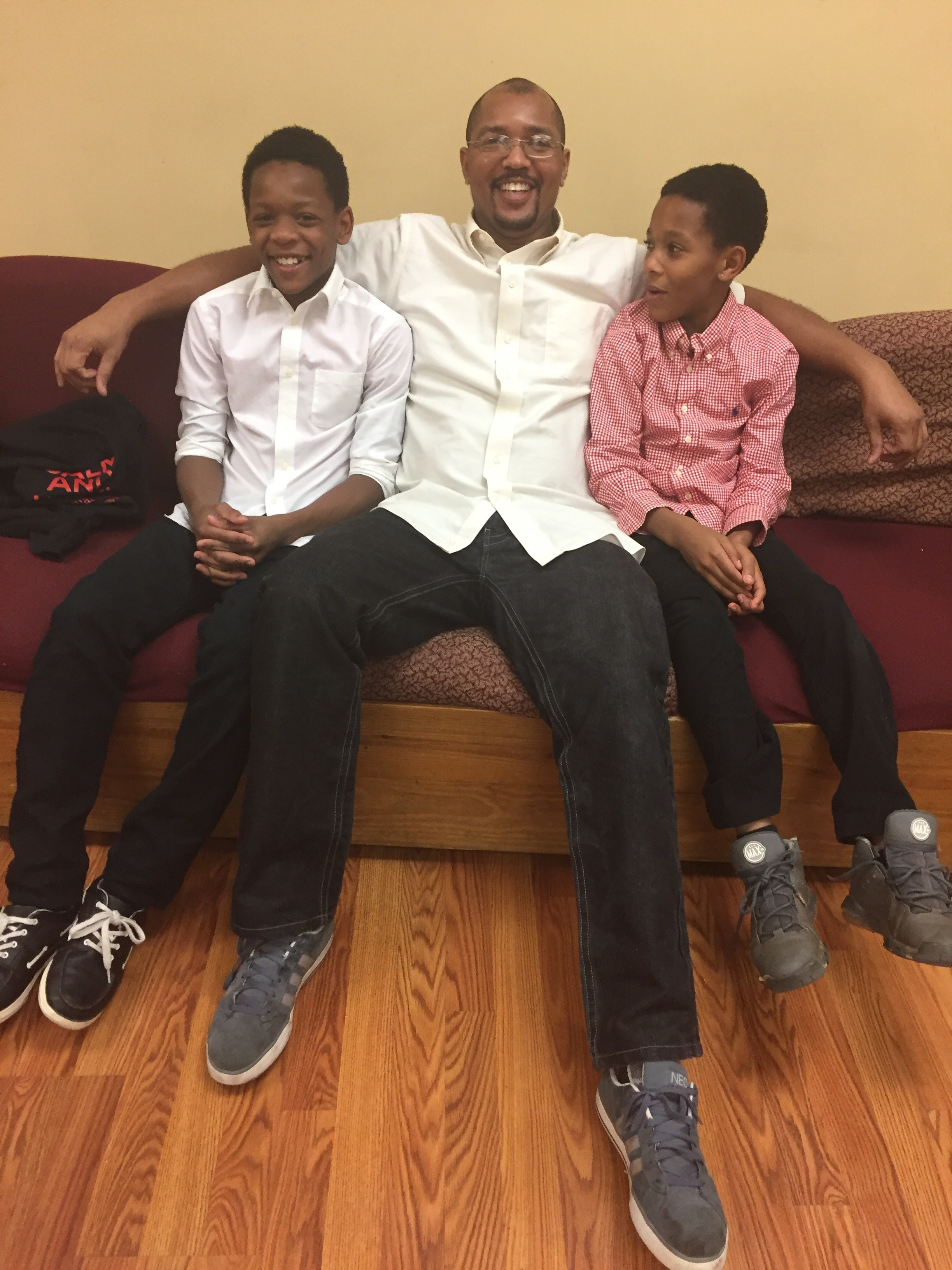 Derwin, Quez and Yekiel, a Family Promise family