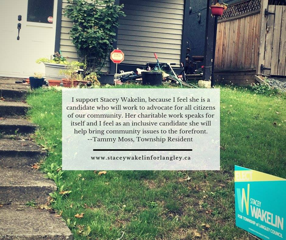 Endorsement from Tammy Moss, Township resident