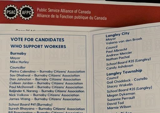 BCGEU endorsed election candidates